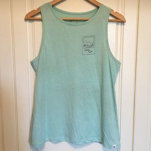 """tentree """"Protect Your World"""" mint green tank top M"""